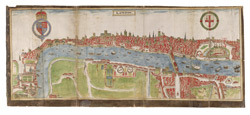Panorama of London by William Smith, 1588